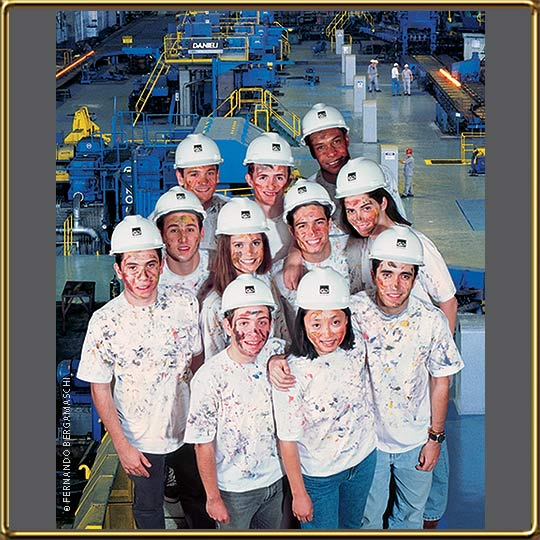 Students photo montage for Gerdau poster