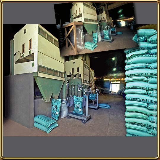 #industrial photo of seed bags